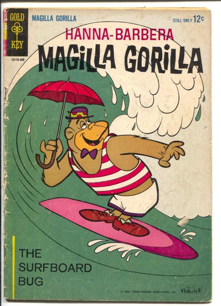 Magilla Gorilla #2 1964-Gold Key-Hanna-Barbera TV Cartoon Series-surfboard-G/VG