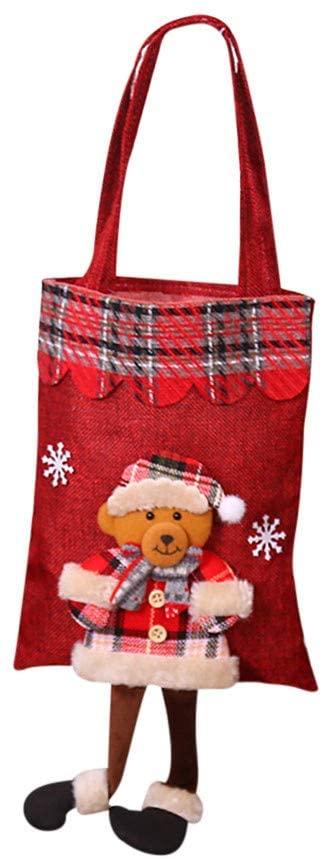 DRAGONHOO Home Grocery Bag Storage Dispenser Mesh Kitchen Organizer Chirstmas Bucket Bag (A)