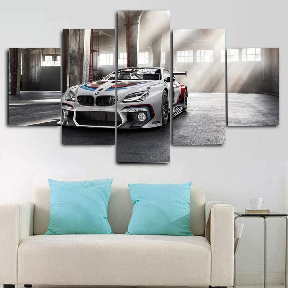LUXURY COUPE OFF-ROAD SUV SPORTS CAR 150x80 Wooden Framework 5 Pieces Multi Panel Split wall art Pictures Prints on Canvas for Living room Modern Home Wall decoration Artwork Gifts for friend