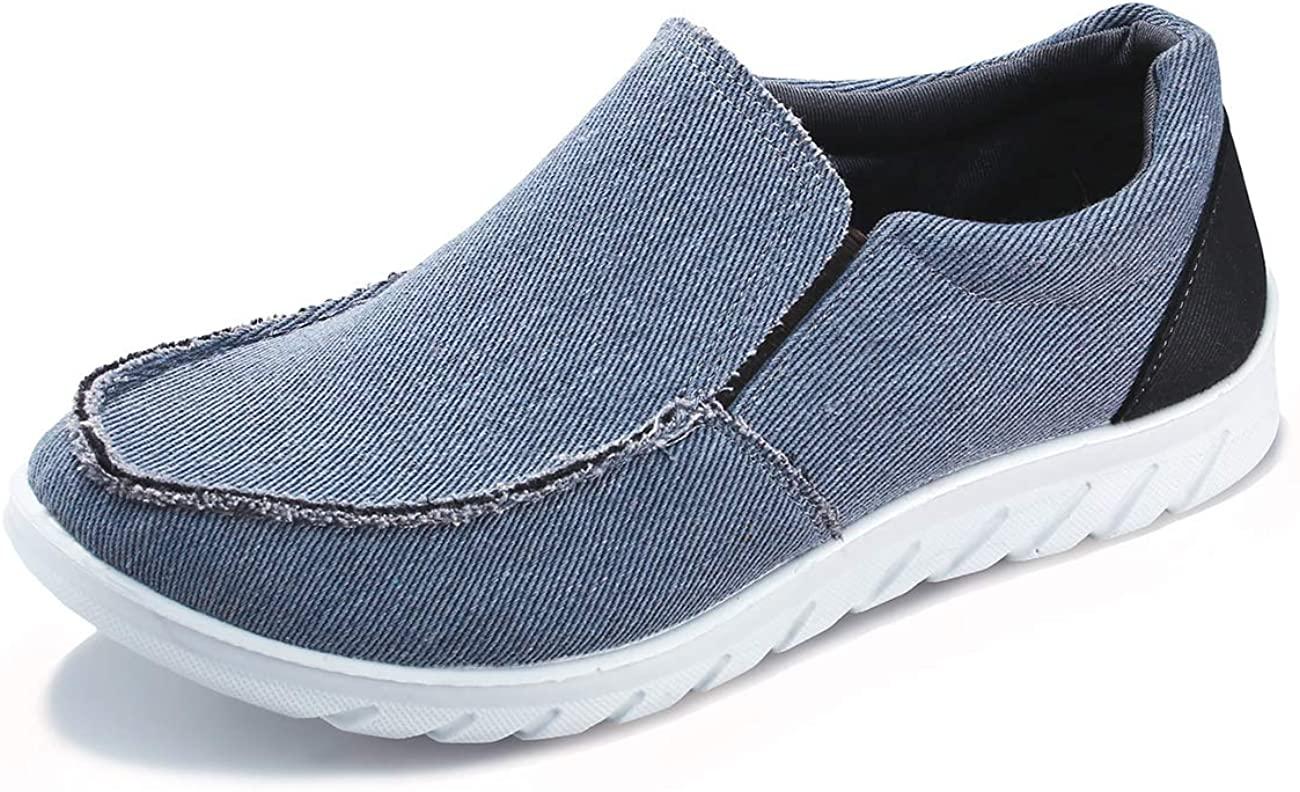 iloveSIA Men's Casual Slip-on Walking Loafer Shoes Mesh Walking Sneakers