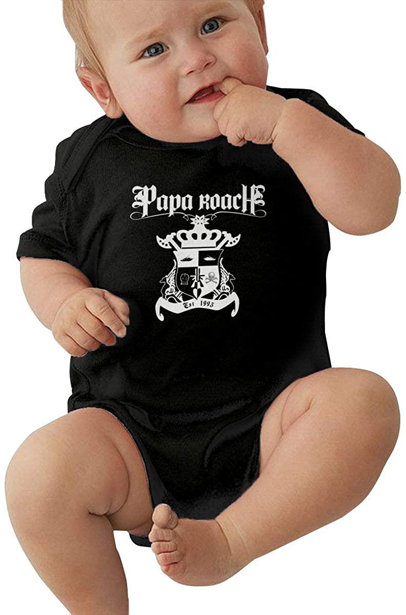 Cfgerends Papa Roach Baby Bodysuit boy Girl Short Sleeve T-Shirt Cotton Shirts