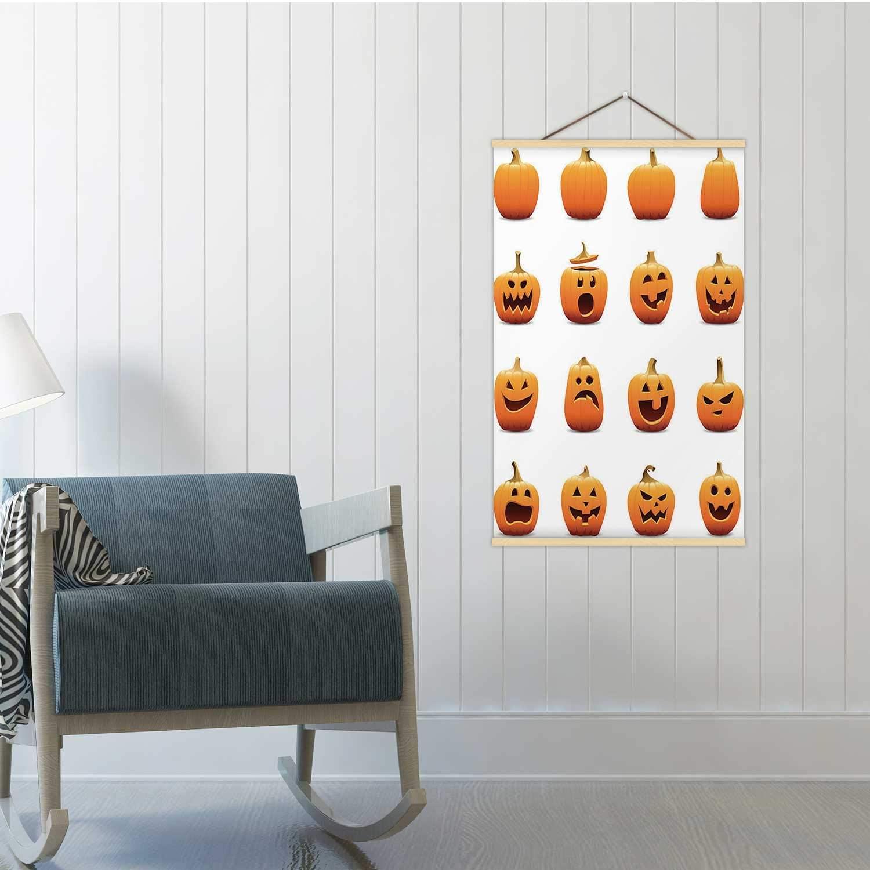 Hitecera Jack O Lantern Icons Illustration Pumpkin,Poster Frames Jack O' Lantern Poster 19x29in(WxH)
