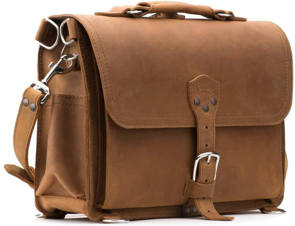Saddleback Leather Co. Slim Full Grain Leather 15-inch Laptop Computer Bag