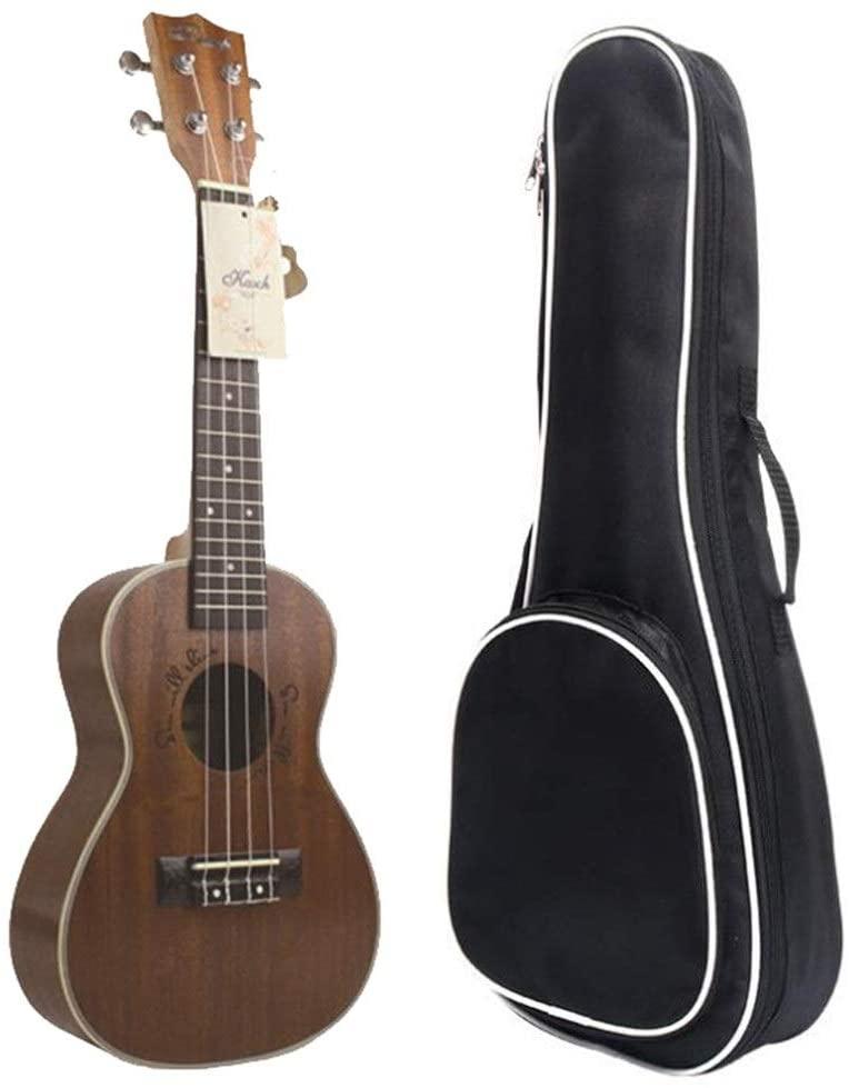Jajx-mu Ukulele Beginner Kit Sapele Wood 24 Inches Concert Professional Ukulele Hawaii Kids Guitar Uke with Gig Bag for Students Beginners Music Instrument Gifts Matte Finish for Kid Youth Adult