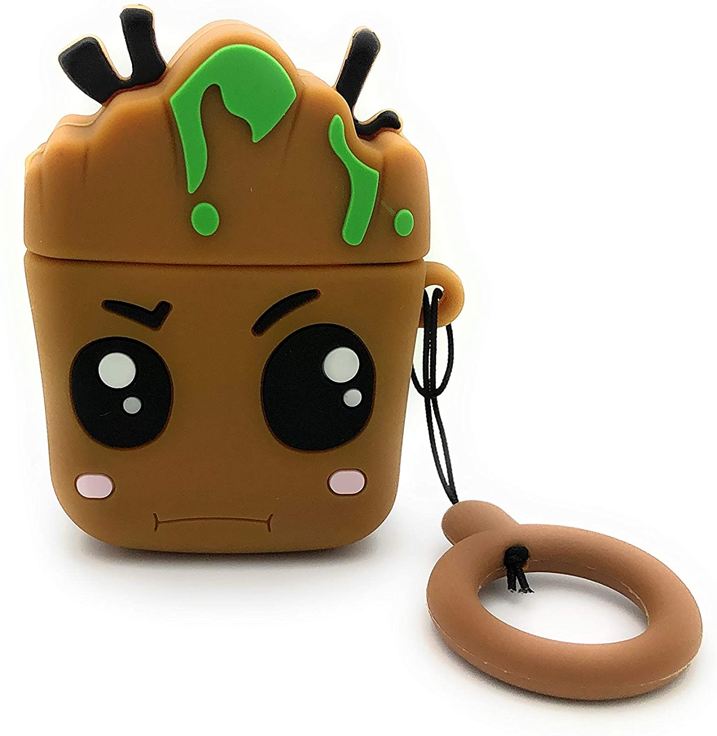 HotelPaw Baby Tree AirPods Case Cover - Cartoon Series - 3D Cute Cartoon Character AirPods Silicone Case/Skin/Cover for Girls, Boys, Kids, Teens (Compatible with AirPods Gen 1 and 2)