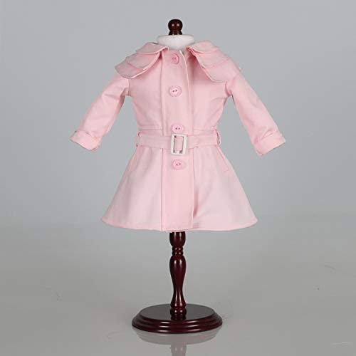 Cute Pink Coat for 18 Inch American Girl Dolls Clothing Lady Dressing