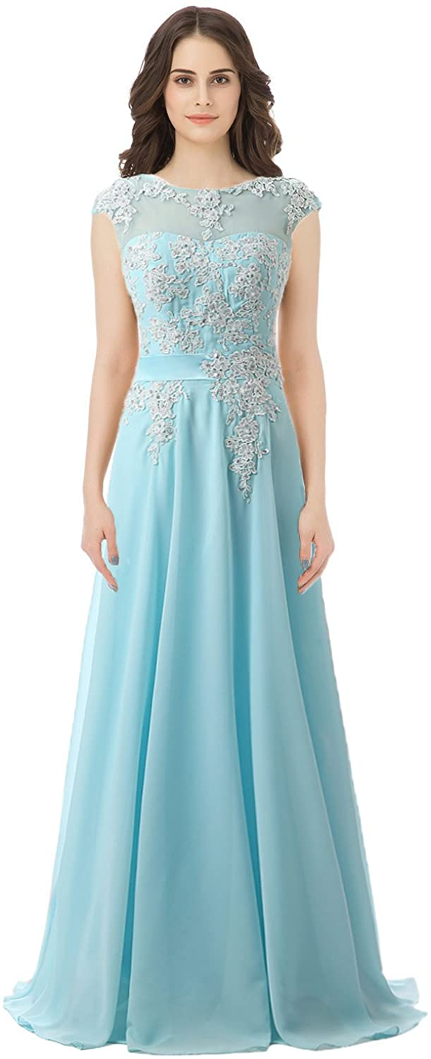 Belle House Sky Blue Prom Dress Plus Size Bridesmaid Gown SD181SB