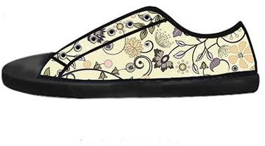 Custom Men's Fashion DIY Image Floral New Sneaker Canvas Shoes