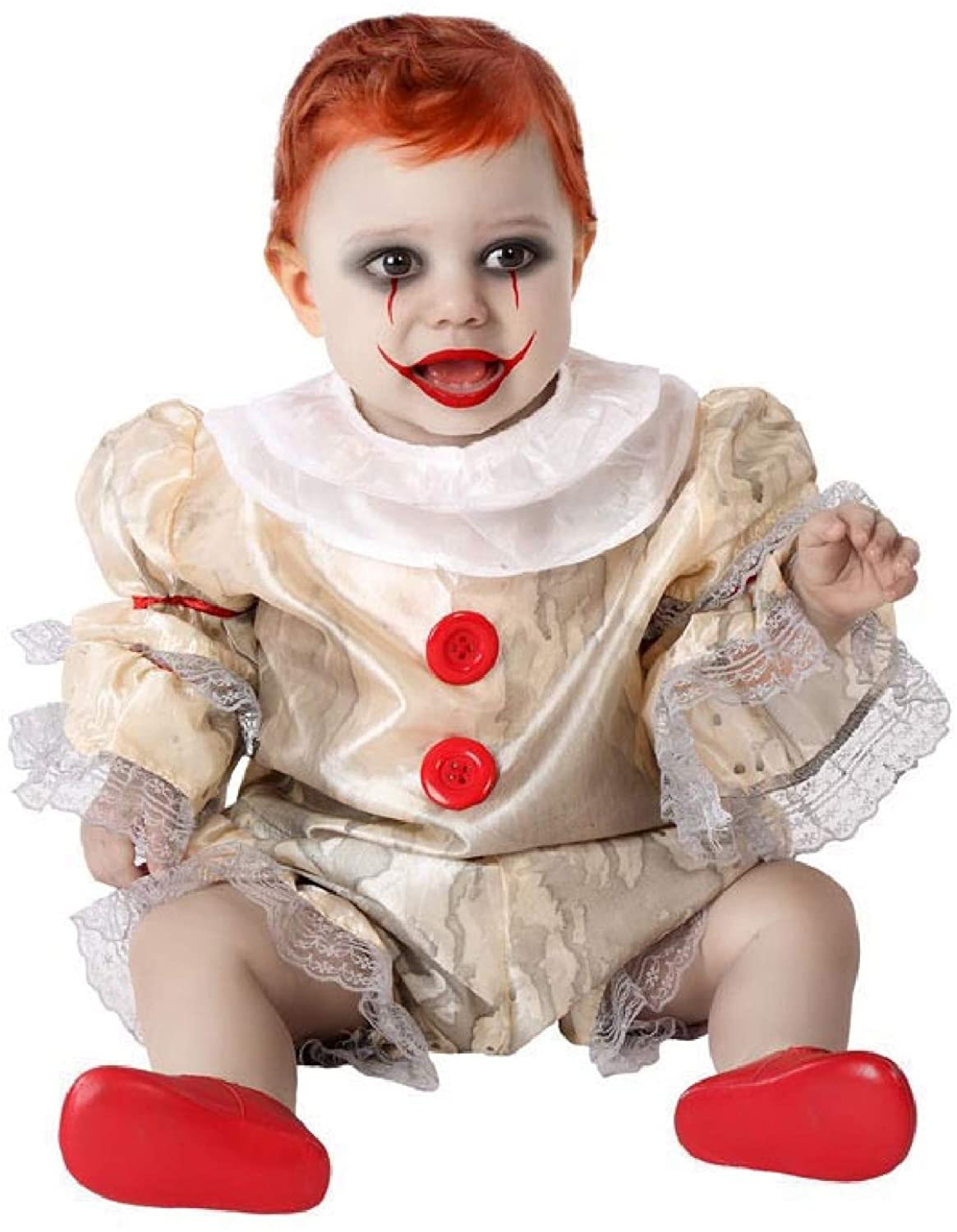 Baby Toddler Boys Girls Vintage Horror Bad Clown Halloween Fancy Dress Costume Outfit 6months-3years