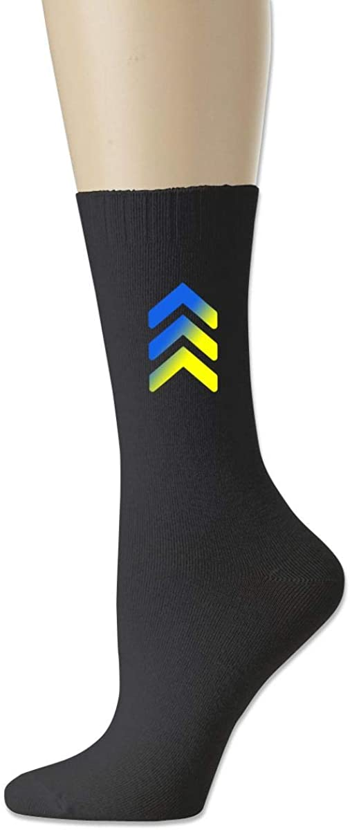 Down Syndrome Awareness 3 Arrow. Adult Running Knit Socks Cotton Crew Socks