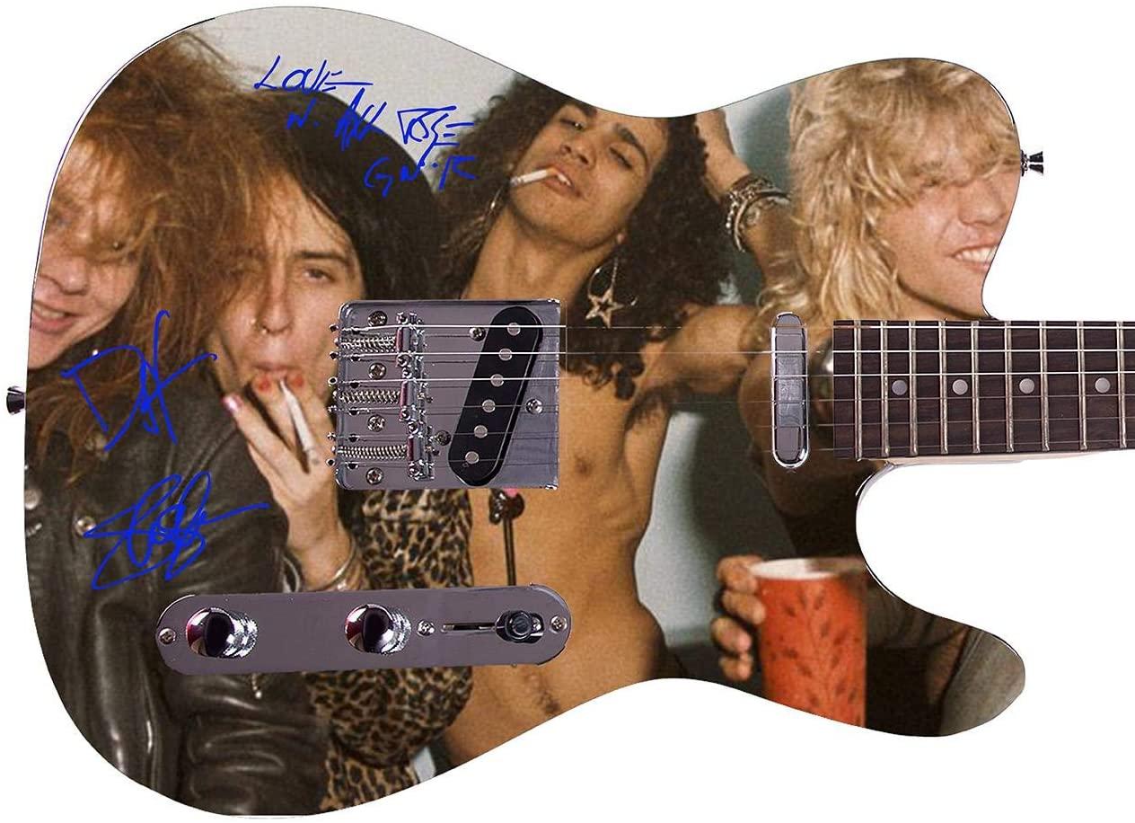 Guns n Roses Facsimile Signature Custom Graphics Guitar - Guitars