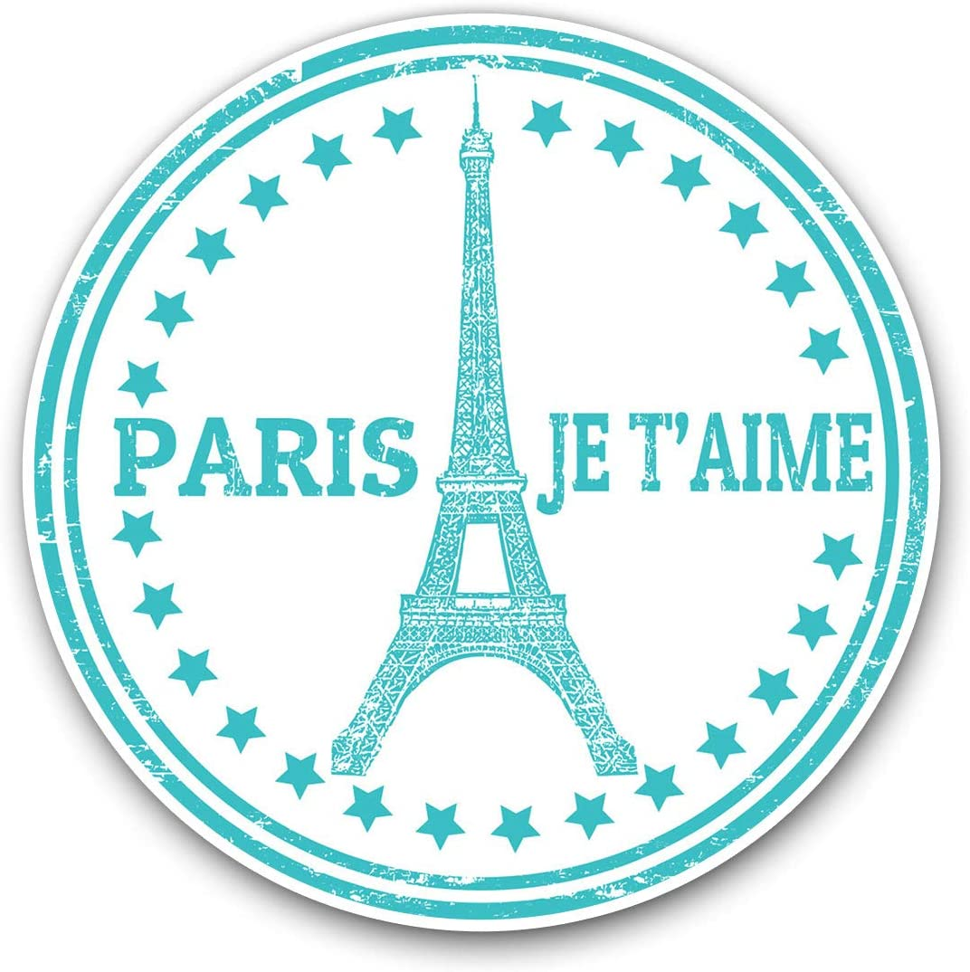 Awesome Vinyl Stickers (Set of 2) 10cm - Paris Eiffel Tower France Travel Fun Decals for Laptops,Tablets,Luggage,Scrap Booking,Fridges,Cool Gift #9300