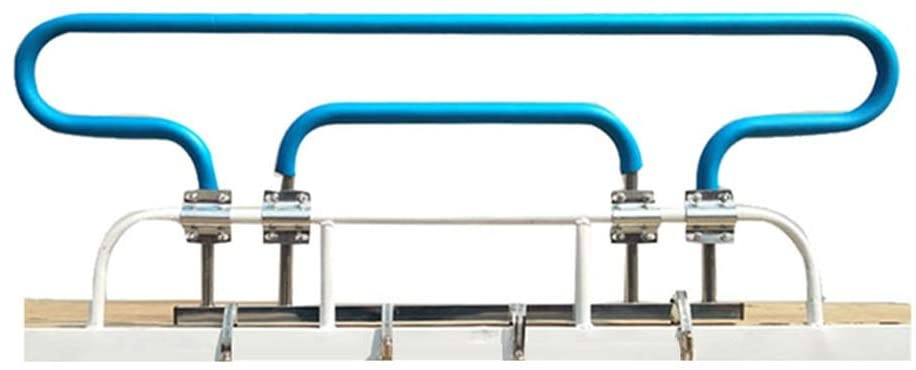 CQILONG-Bed Rail Upper Bunk Heightening Guardrail Dormitory Fall Protection Baffle Metal Frame Strong and Durable, 2 Colors (Color : Blue, Size : 110x39cm)