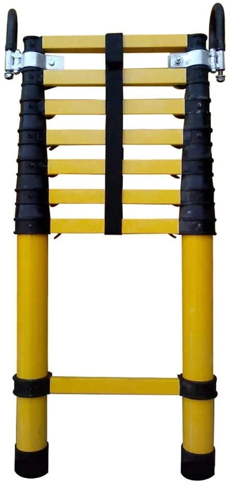 YGCBL Outdoor Ladder,Ladders,Telescopic Ladder,Telescoping Extendable Ladder Insulated Ladder with Fixed Hook,Portable Heavy-Duty 2M-4M for Climb Home Builders Attic Loft,2M/6.5Ft,2M/6.5Ft