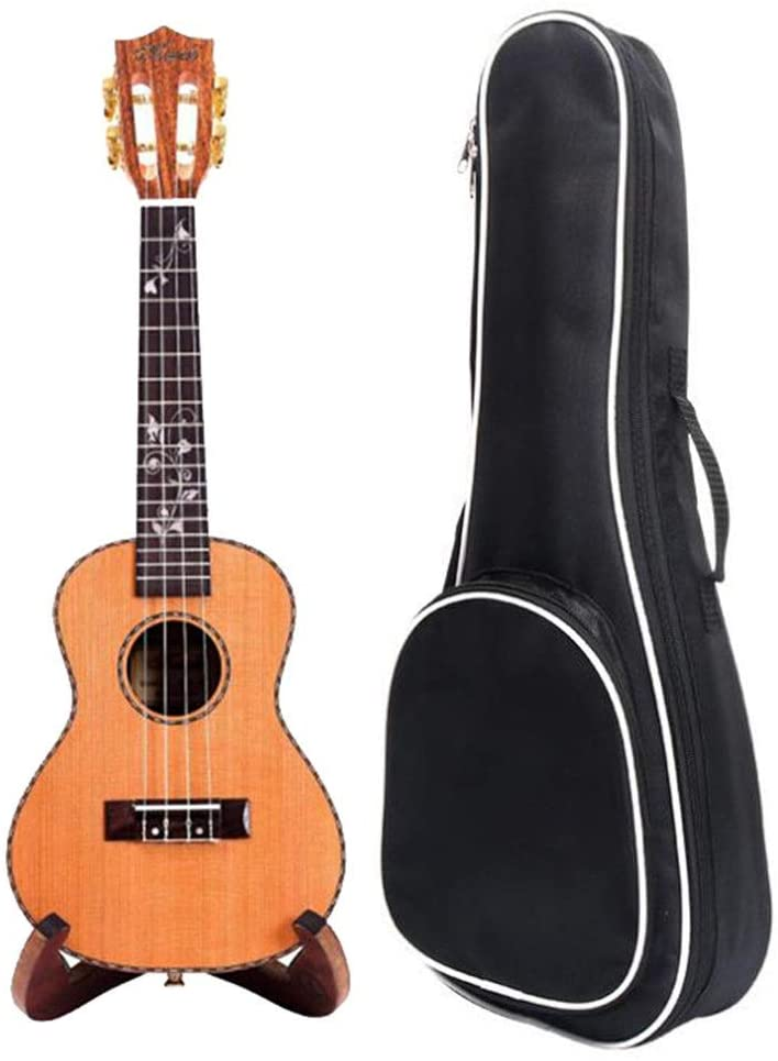 Durable Solid Acacia Wood 23 Inches Concert Ukulele Hawaii Kids Guitar Uke with Gig Bag for Kids Students Beginners Music Instrument Gifts Without Stand Preschool Toys
