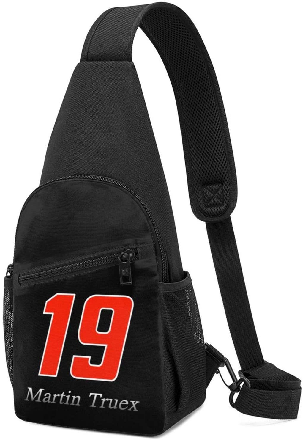 FGHFGHF Martin Truex Jr Crossbody Sling Backpack Sling Bag Travel Hiking Chest Bag Daypack