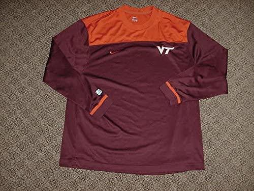 C.J. Barksdale Virginia Tech Hokies Mens Basketball Game Worn Shooting Shirt
