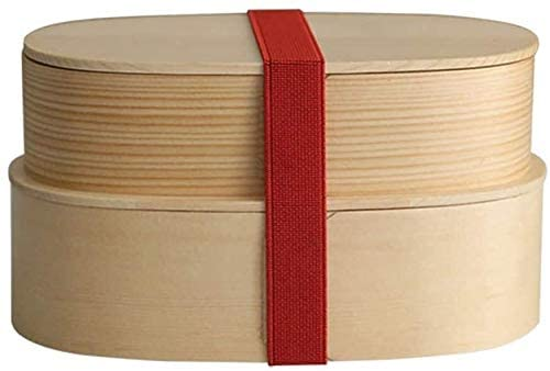 Lunch Box/Wooden Bento Box Oval Lunch Box Portable, Dried Fruit Box,Sushi Box,Food Storage Container/Thermal lunch box (Color : A, Size : A)