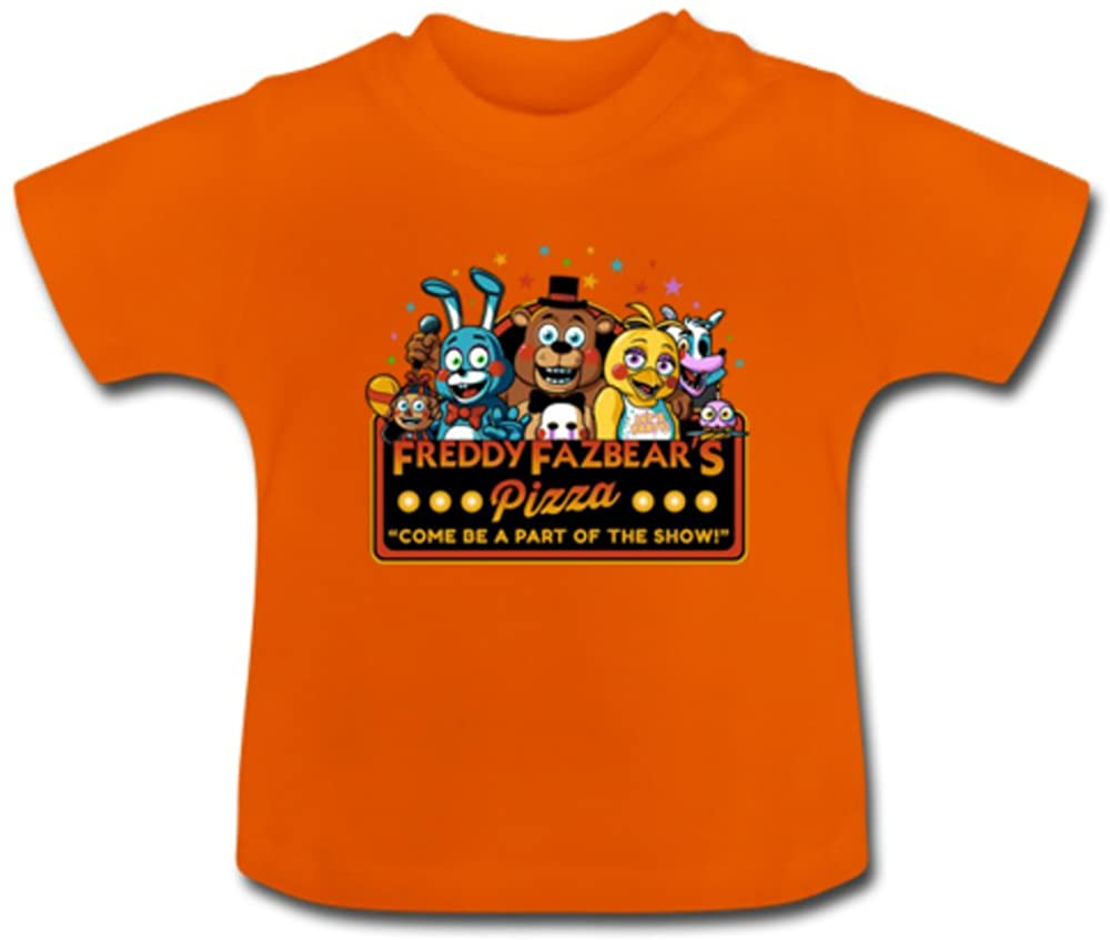 Cono Baby Kids' Cartoon Five Nights At Freddy's T-Shirt Toddler -(6M-5T)
