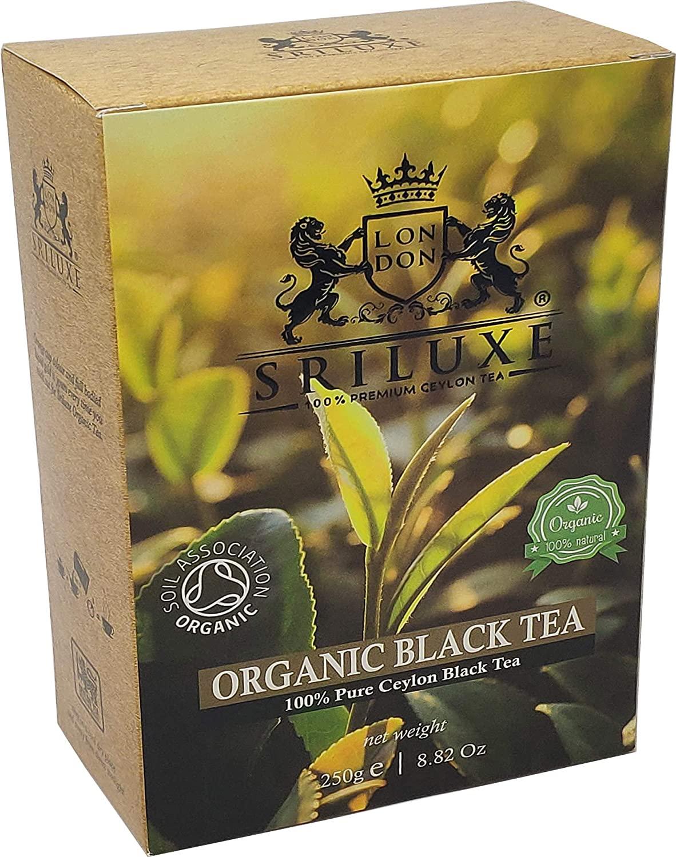 SRILUXE - Premium Quality Loose Leaf Ceylon Organic Black Tea Exquisite Taste and Aroma 100% Natural Freshly Harvested From Sri Lanka (250g)
