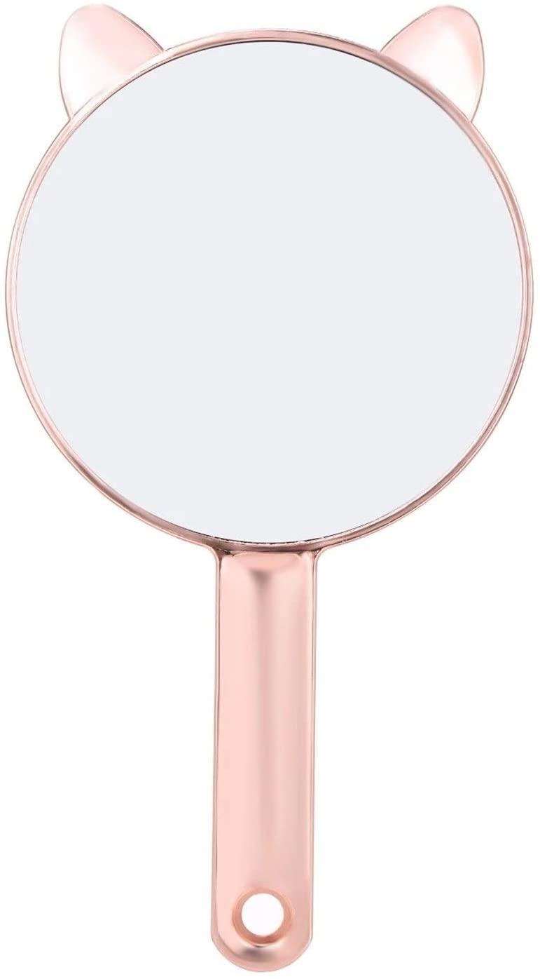 WTNL Handle Makeup Mirror Portable Pocket Travel Mirror Cosmetic Mirror Beauty Makeup Mirror Cute Mirror for Ladies