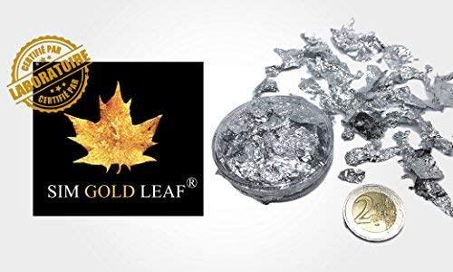 Sim Gold Leaf Leaf, 40mm x 40mm, Silver