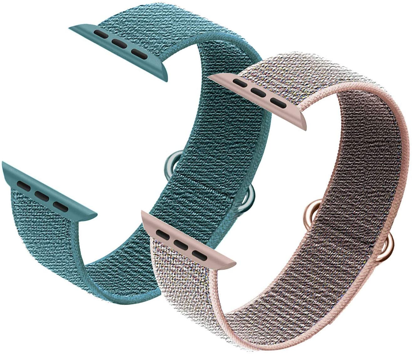 Ycysh 2 Pack Strap Compatible with Apple Watch Band 38mm 40mm 42mm 44mm,Replacement Bands for iWatch Series 6/5/4/3/2/1/SE