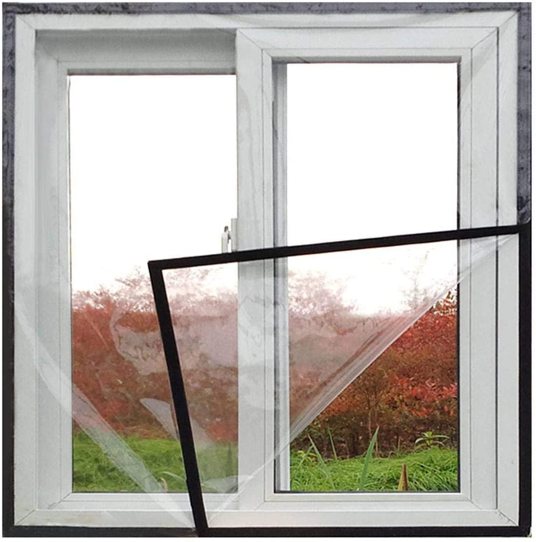 Transparent Door Curtain Vinyl Drapes, Window Insulation Kit Windproof Cold Weather Noise Reduction Winter Thermal Insulated Insulation Curtain-150x150cm(59x59inch)