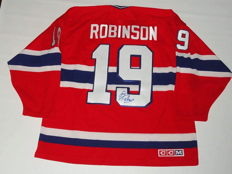Larry Robinson Signed Vintage Montreal Canadiens Jersey Hof Jsa Coa - Autographed NHL Jerseys