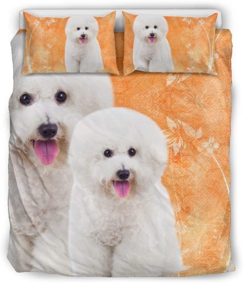 Pawfeel Bichon Frise Dog Print Bedding Sets