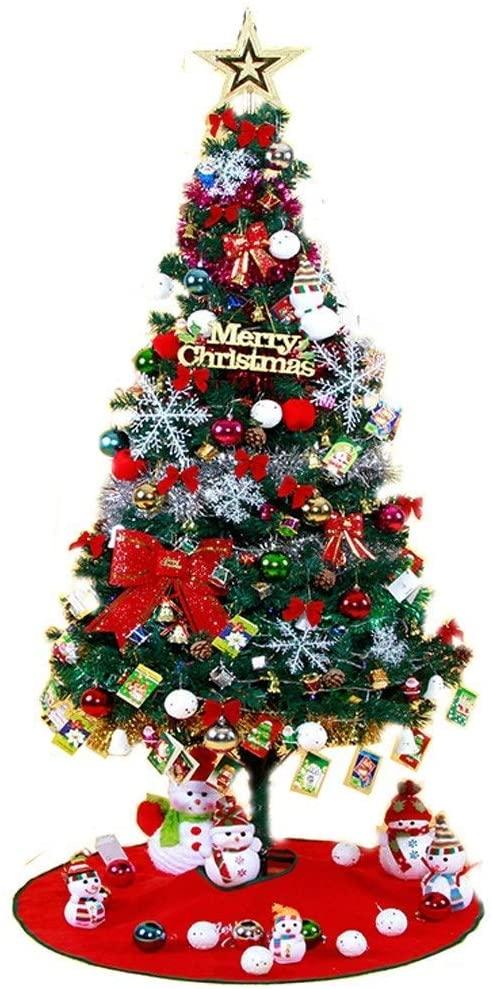 XH&XH Christmas Trees Artificial Christmas Trees (4Ft / 120cm) Green Christmas Tree Christmas Tree with Metal Stand Artificial Christmas Traditional Decorations with 155 Spikes Artificial Christma