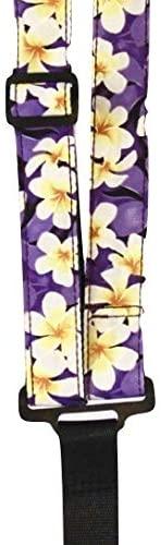 Sherrin's Threads Classical Neck Straps-Purple Plumeria