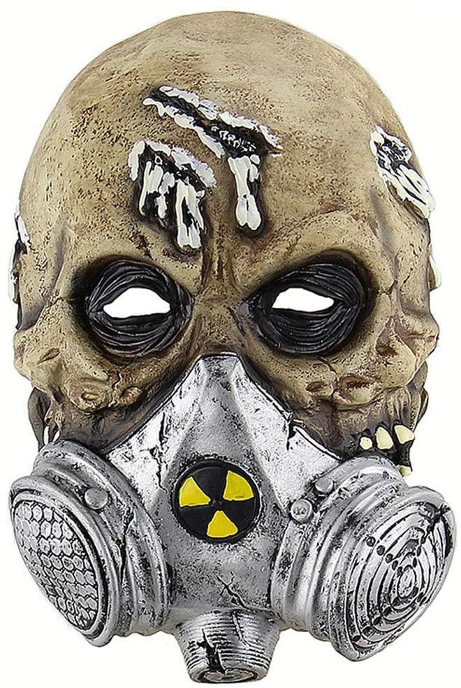 Rushuo-mianju Halloween Mask Halloween Party Party Carnival Group Legerdemain Dance Series, Halloween Horror Biochemical Gas Mask Hood