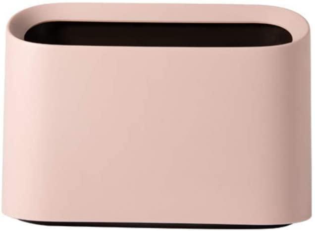 Original Mini Countertop Trash Can Craft Table Desktop Office Kitchen, Makeup Holder for Vanity Bathroom, 100 Plastic Bags (Pink-Value)