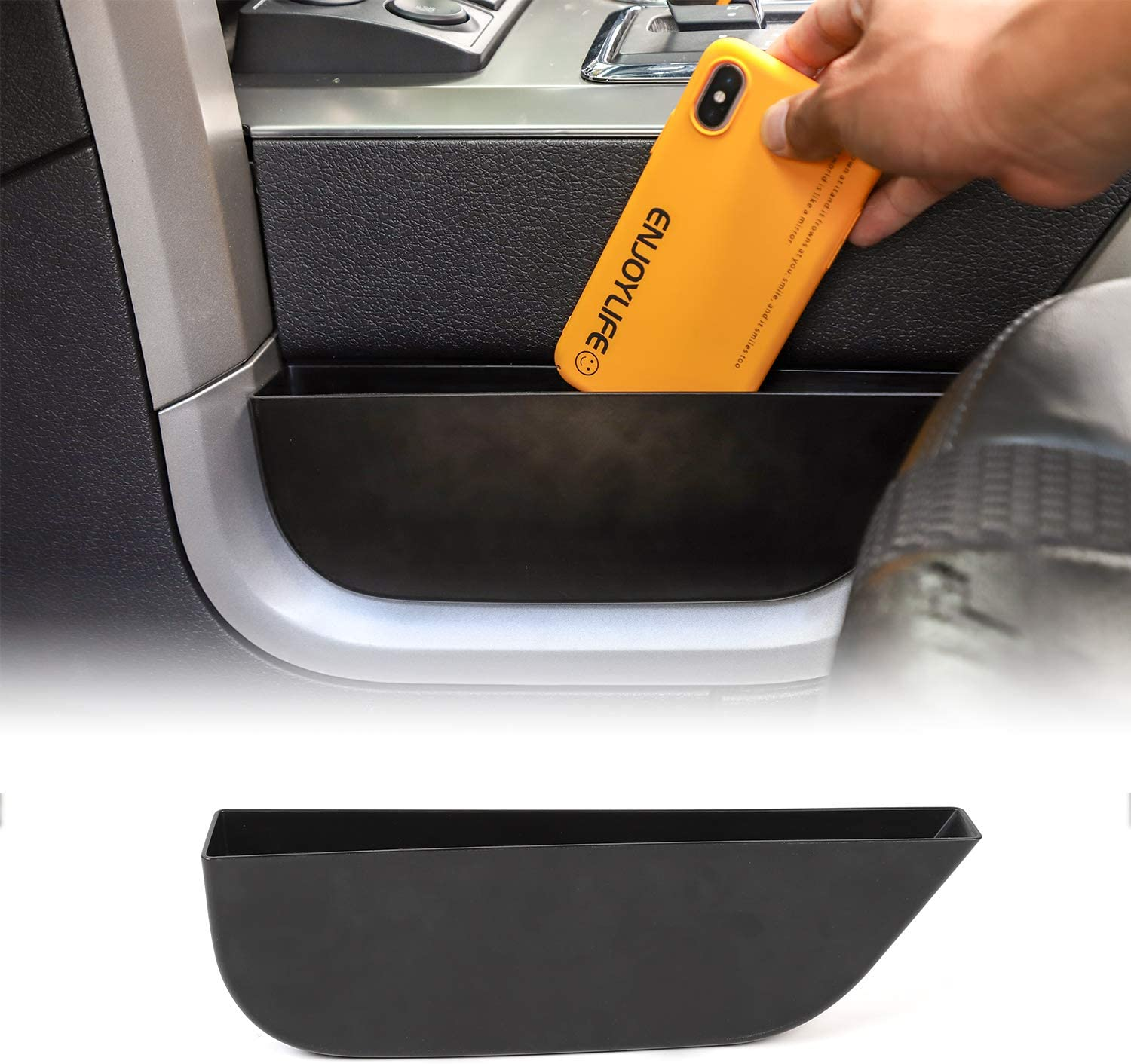 Voodonala GearTray Gear Shifter Console Side Storage Box Manual Transmission Organizer Tray for Ford F150 2009-2014
