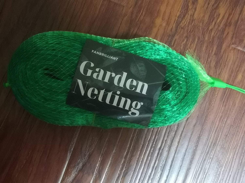 FANBRILLIANT Wide 13 Ft Length 33 Ft Anti Bird Protection Net Garden Plant Mesh Netting Fruit Trees Netting (Green)
