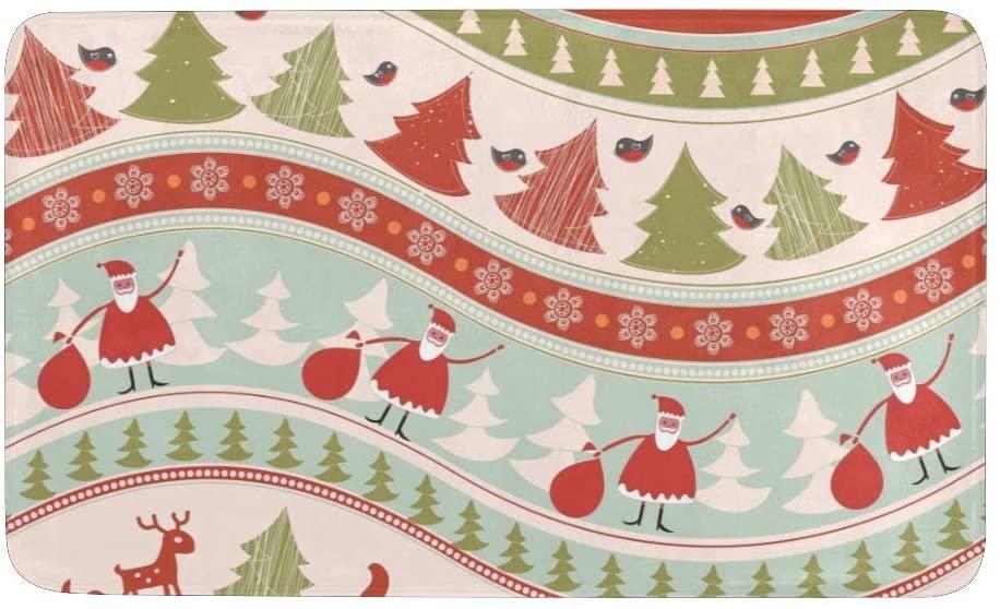 CUXWEOT Christmas Colorful Pattern Door mat Entrance Door Rugs Non-Slip Backing Ultra Absorbent Welcome Doormat Decor Office Garden Kitchen Mats 23.6 x 15.7 Inch