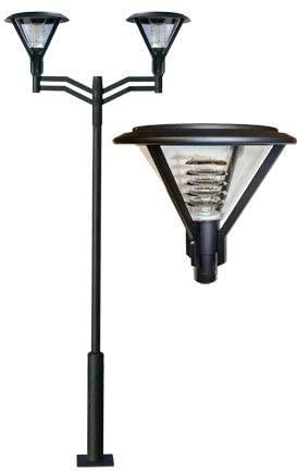 Dabmar Lighting GM9522-B Architectural Post Fixture 2 x 70W High Pressure Sodium44; 120V - Black