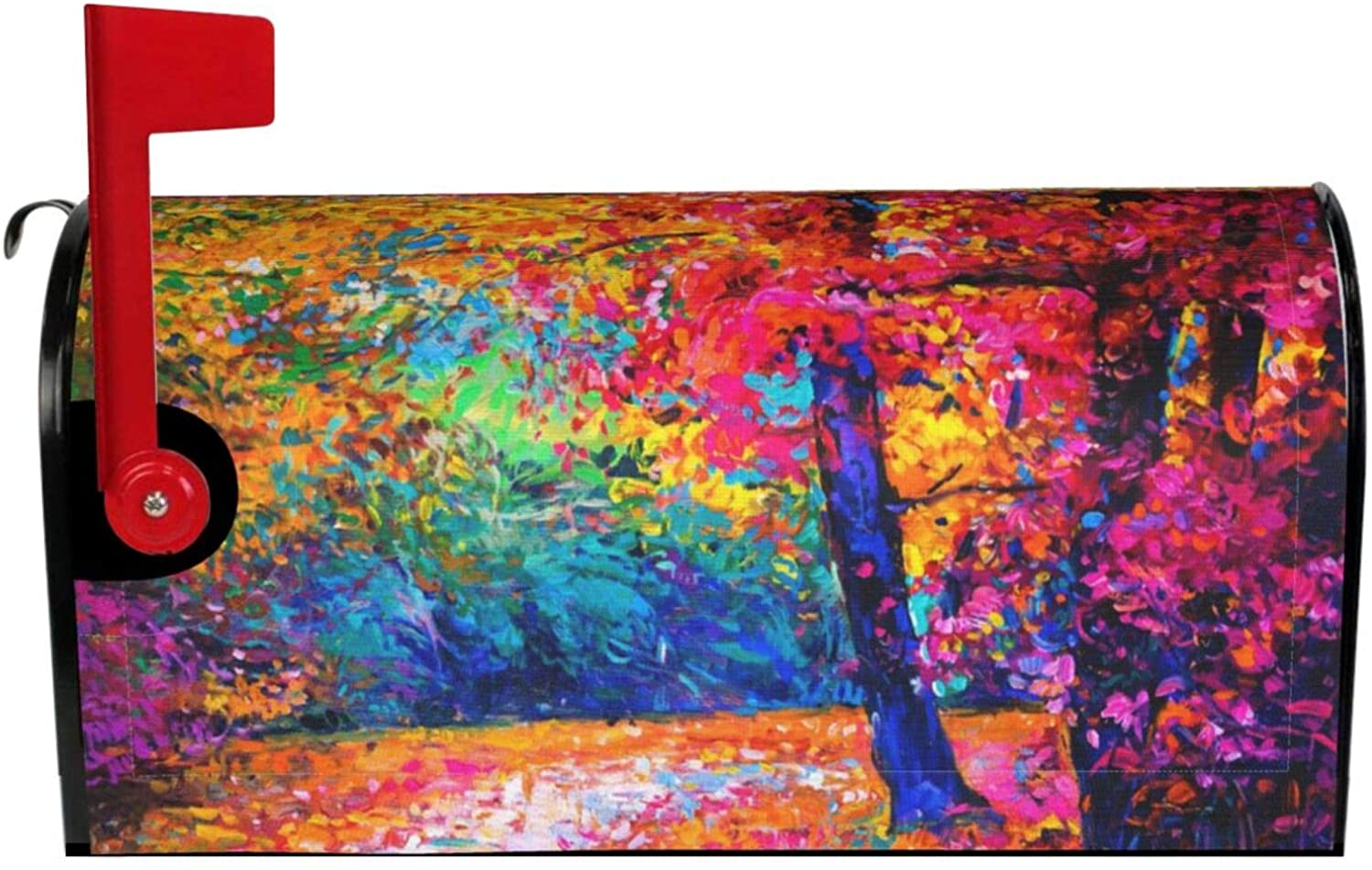 Dujiea Autumn Fall Trees Mailbox Cover Mailbox Wraps, Waterproof Mailbox Covers Magnetic Post Box Cover Standard Size 21