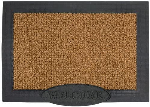 GrassWorx Clean Machine Big Welcome Doormat, 24 x 36, Cocoa (10371567)