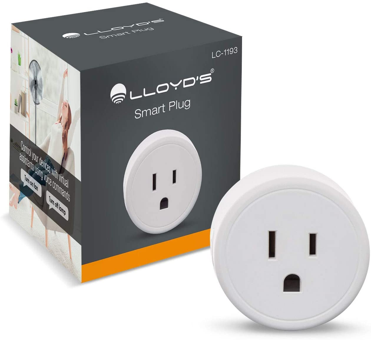 WiFi Smart Plug, Compatible with Alexa and Google Home, Set Timers and Schedules from App, No Hub Required, for 2.4 GHz Networks