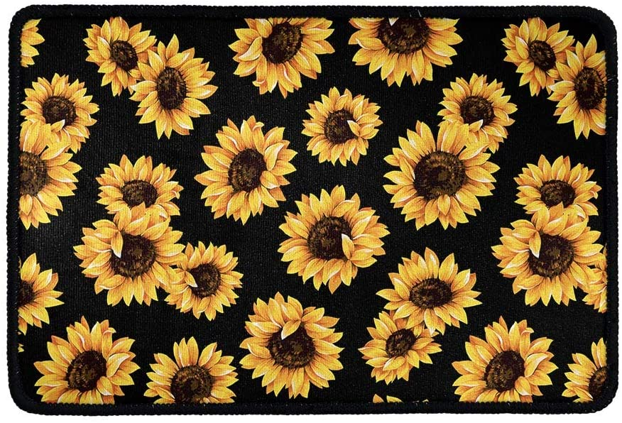 chaqlin Funny Entrance Welcome Door Mats Sunflower Non Slip Rubber Kitchen Carpet Indoor Outdoor Home Decorative Welcome Rugs 15.7 in x 23.6 in