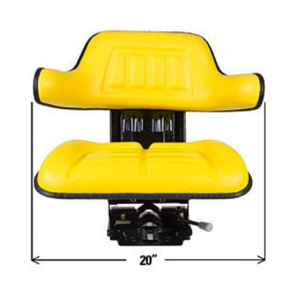 TS1040ATSP New Yellow Waffle Seat Slide Track Adjustable Base Fits John Deere Tractor