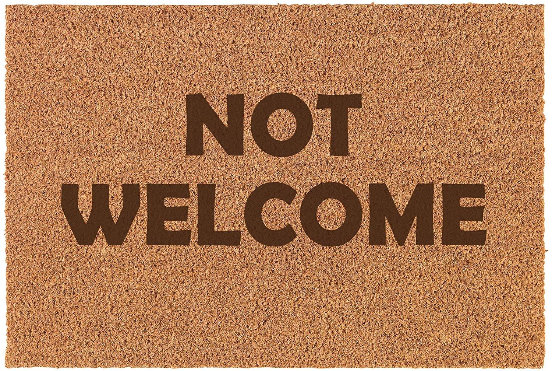 Daylor Coir Door Mat Entry Doormat Funny Not Welcome