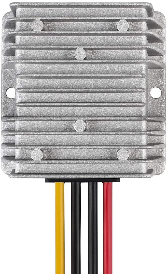 BANKEE Voltage Converter 36V 48V to 12V 10A 120W Waterproof DC/DC Regulator Buck Transformer Power Supply for Golf Cart Club Car