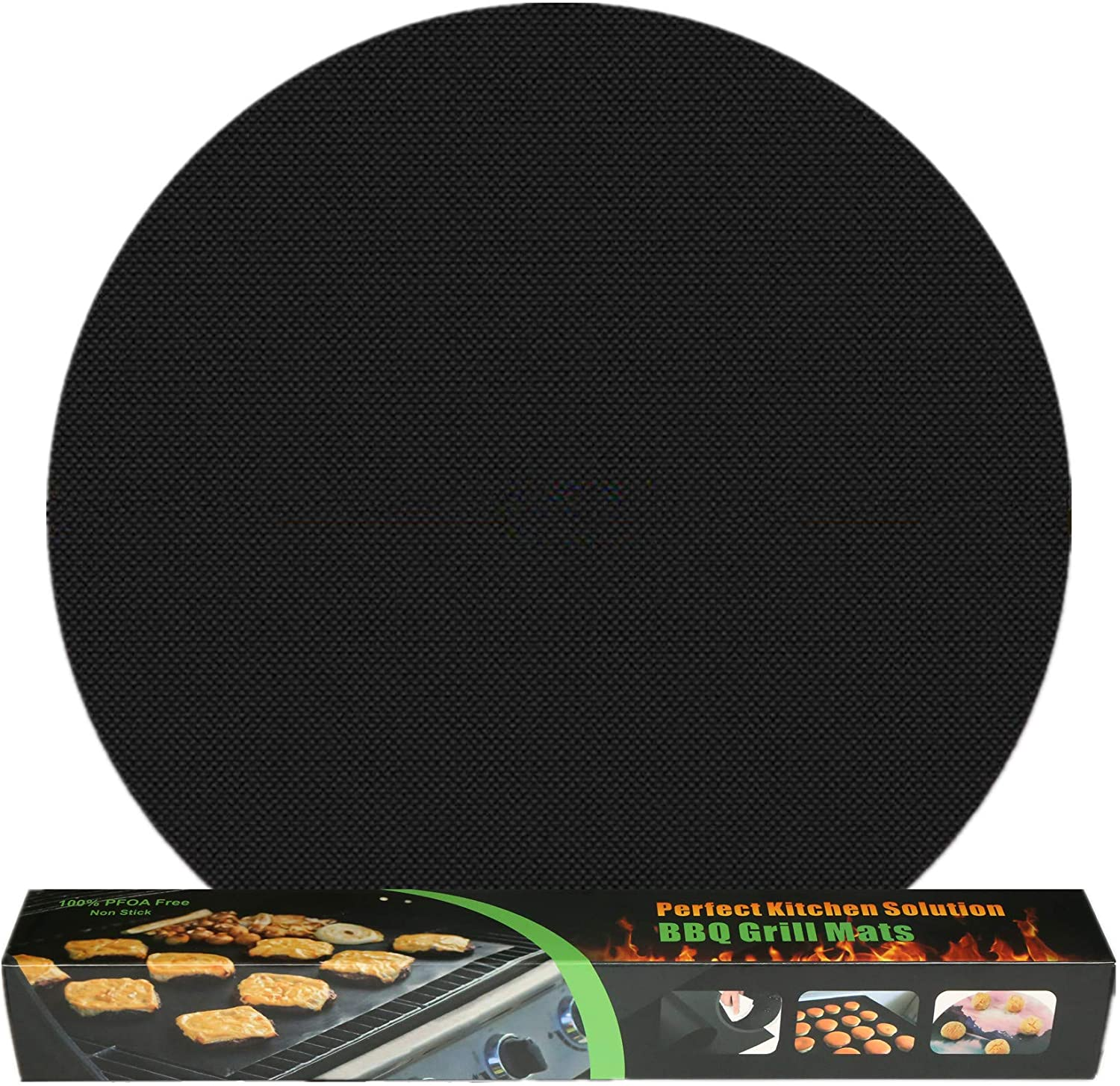 VEIK Grill Mat, 0.4mm Thick, Nonstick BBQ Grilling Mats Set, Large - 15 inch, Pack of 5