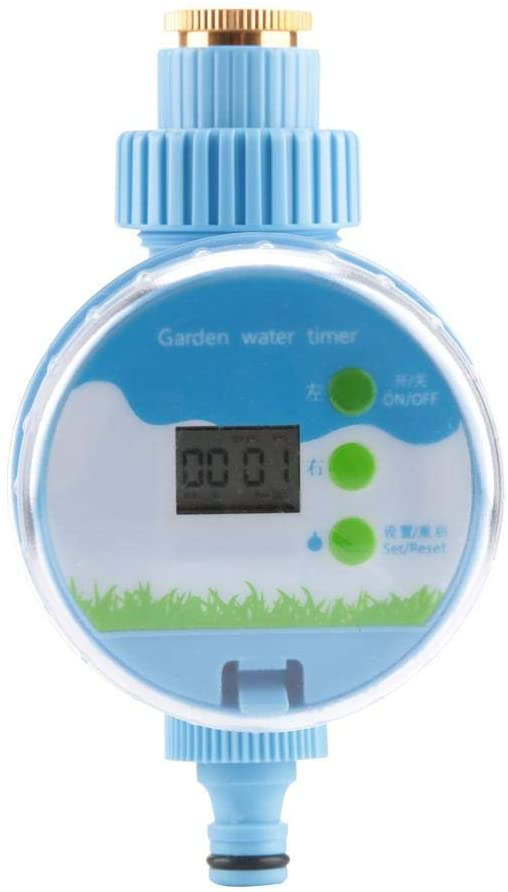 Fdit 360°Rotating Automatic Watering Timer Garden Irrigation Controller with LCD Digital Screen for Garden Home Greenhouse