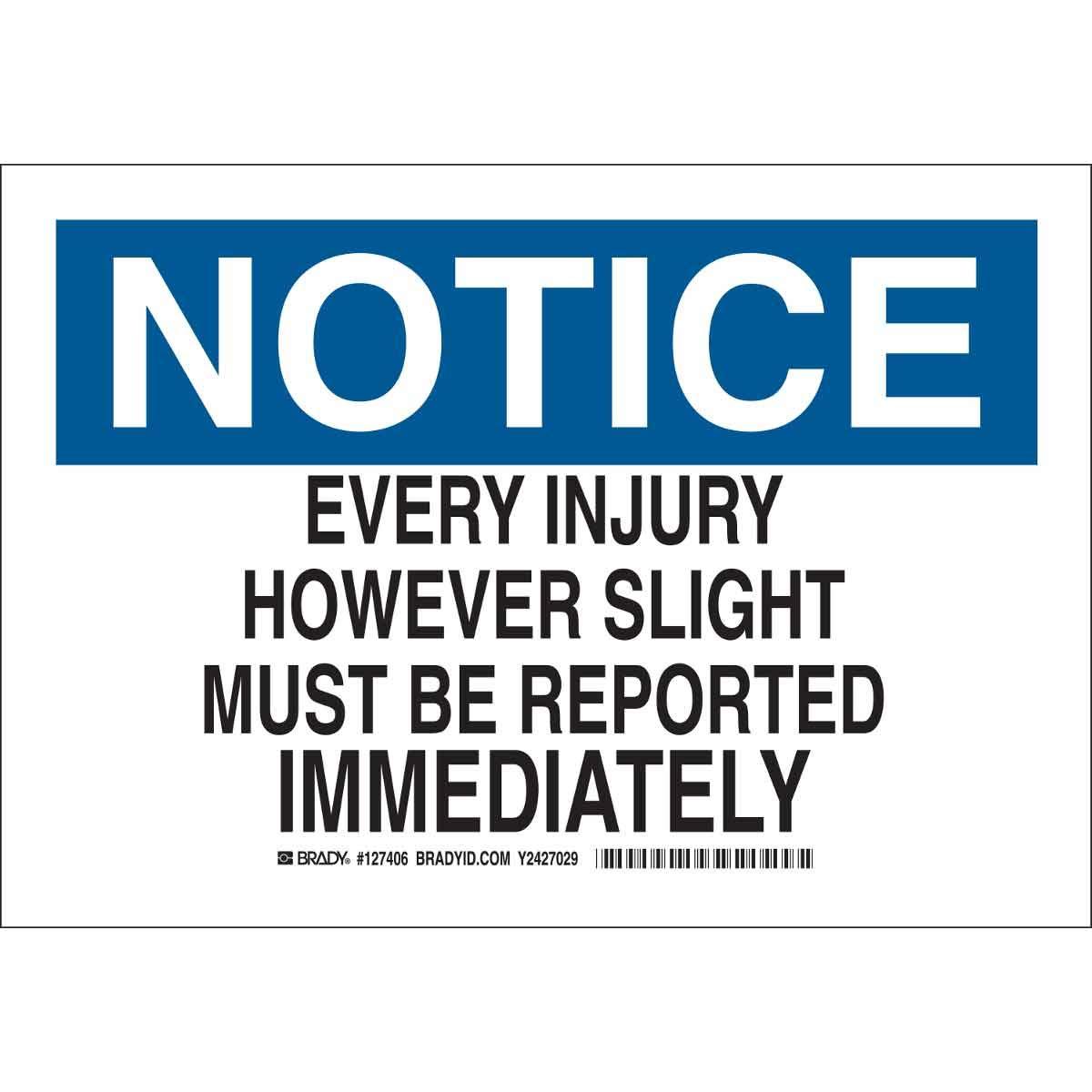 Brady 127405 First Aid Sign, Legend