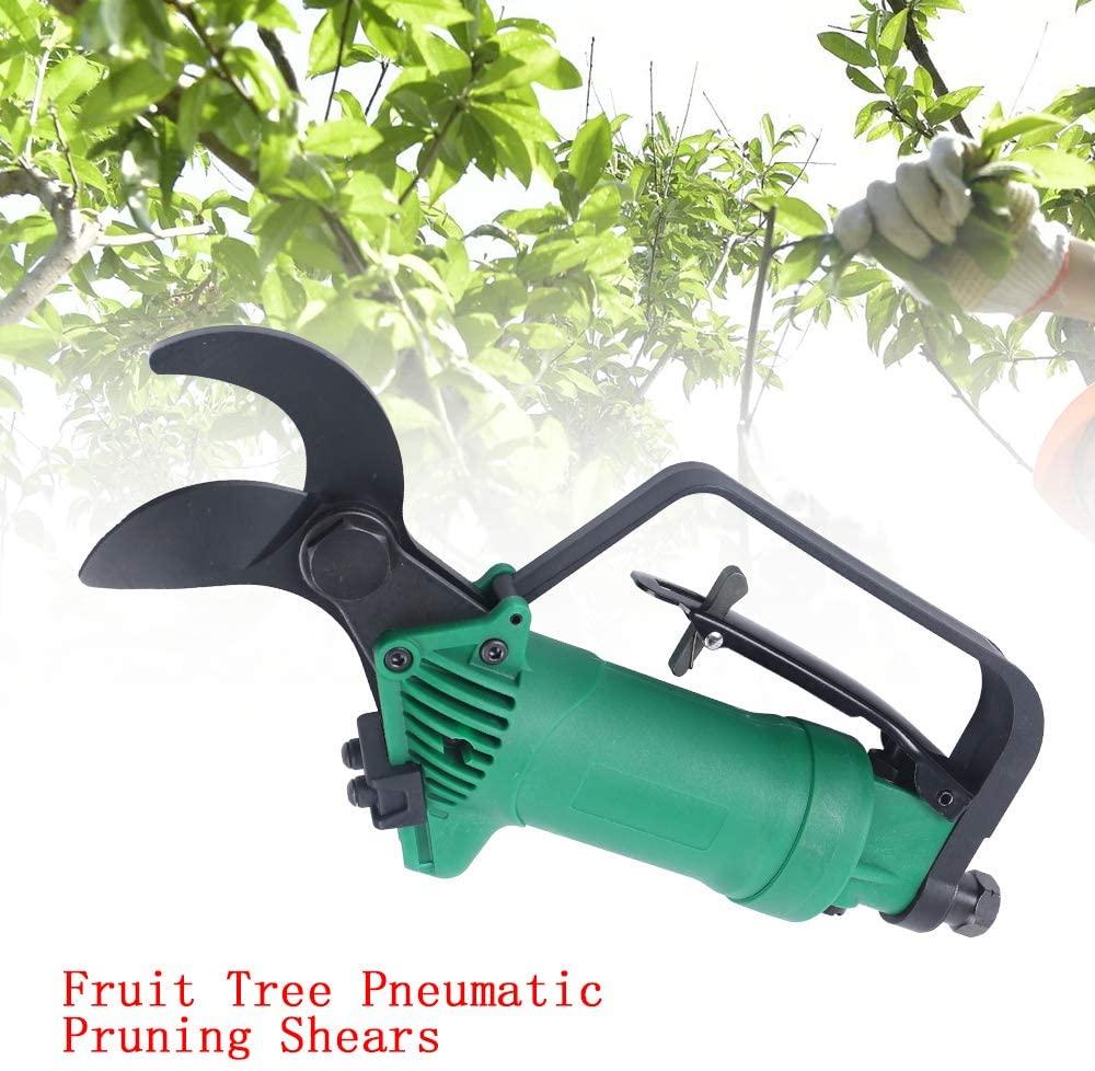 QIZHI 120psi Pneumatic Fruit Pruning Shears, Professional Garden Air Trim Scissors Tools for Garden Fruit Tree Flower Branch Cutting Tool Accessories-Shear Diameter 0-25mm