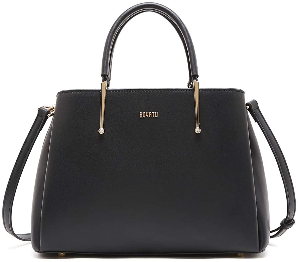 Genuine Leather Handbag for Women Elegant Designer Top Handle Satchel Bags